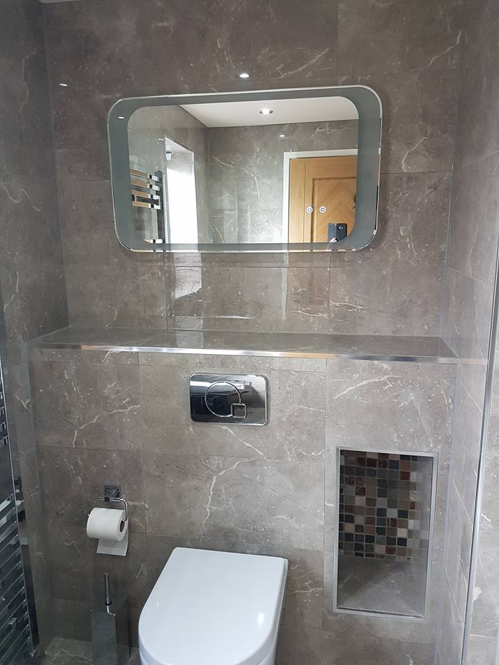 Designer Bathroom With Built In Cistern